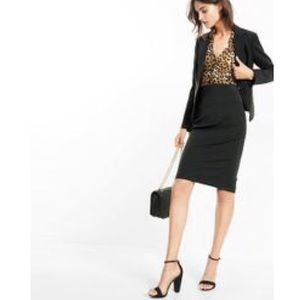 Express Lace-Up Back Pencil Skirt